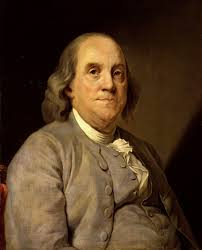Life-like painting of Benjamin Franklin