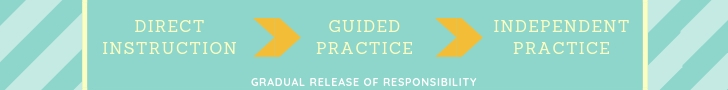 Direct instruction > guided practice > independent practice