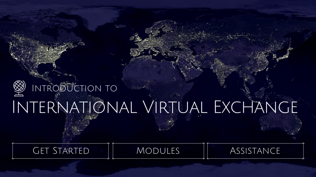 Home page for International Virtual Exchange course