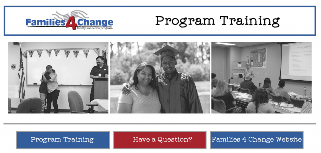Home Page for Family Solutions Program Training Course